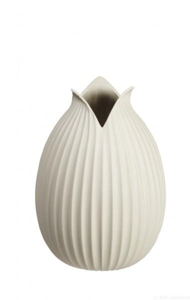 """ASA Vase """"Yoko"""" Rillendekor natur 22cm"""