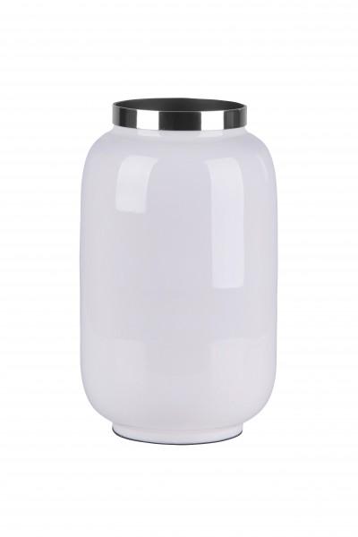 Vase Saigon weiß/silber S