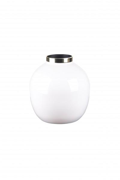 Vase Saigon weiß/gold