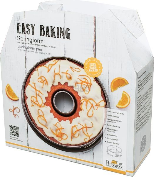 """Birkmann Springform """"Easy Baking"""" 26cm (2 Böden)"""