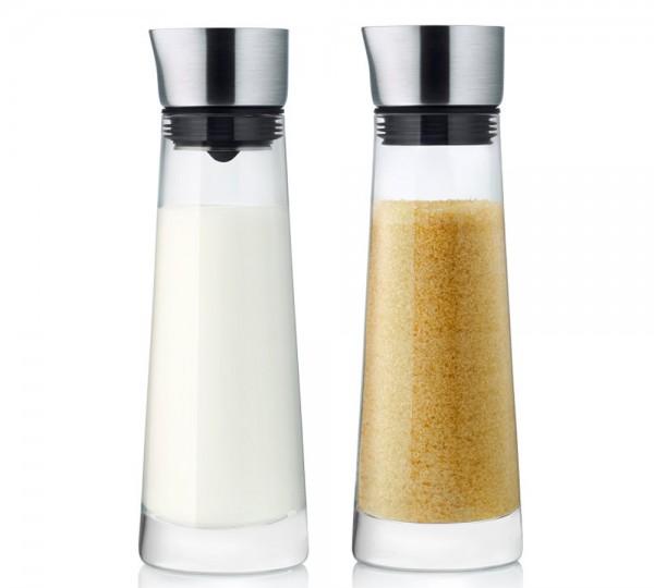 Zucker- und Sahne Set Glas 180 ml MACCHIATO