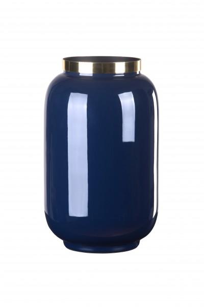 Vase Saigon dunkelblau/gold S