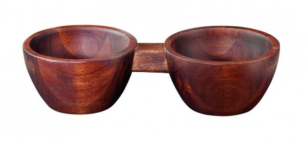 ASA 2er Snack bowl, akazie massiv