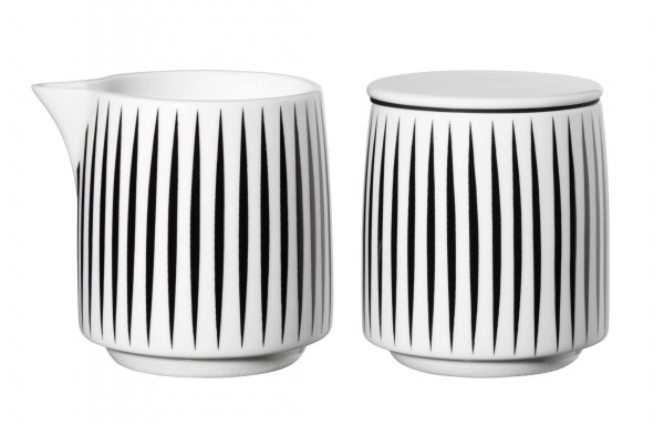 """ASA Milch & Zucker Set """"Muga"""" stripes"""