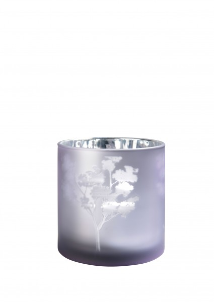 Sompex AWHIA Windlicht silber/violett