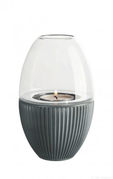 """ASA Windlicht mit Glaszylinder """"Yoko"""" basalt"""