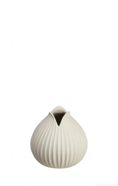 """ASA Vase """"Yoko"""" Rillendekor natur 10,5cm"""
