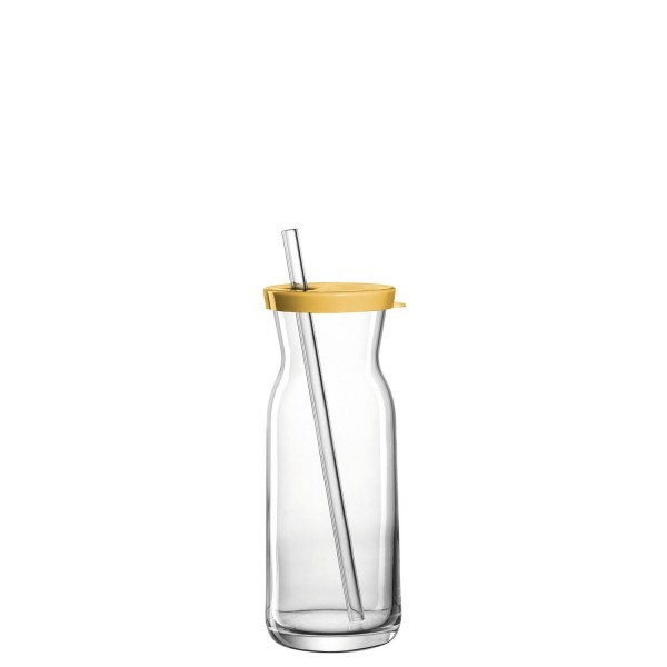 Leonardo Trinkkaraffe 250ml mit Glastrinkhalm