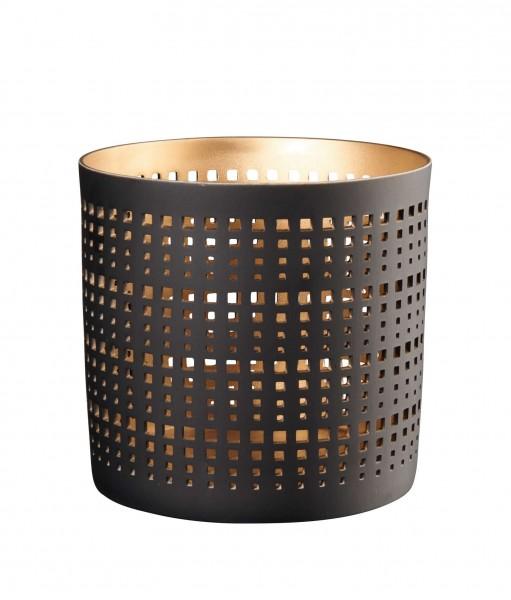 ASA Windlicht schwarz/gold L