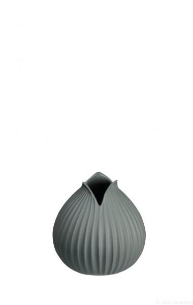 """ASA Vase """"Yoko"""" Rillendekor basalt 10,5cm"""