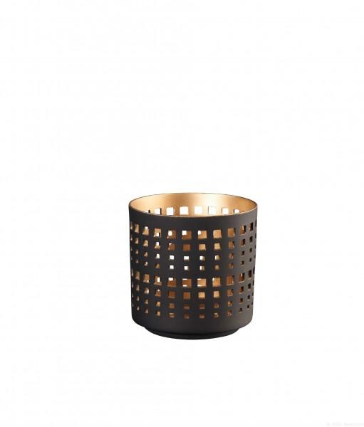 ASA Windlicht schwarz/gold S