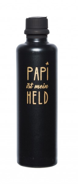 """Gourmet Berner Tonflasche """"Papi mein Held"""""""