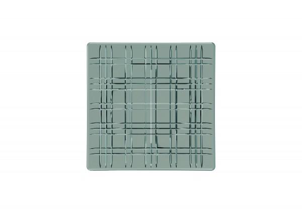 "Nachtmann Platte ""Square"" smoke Set 2-tlg. quadratisch Glas, 21 cm"