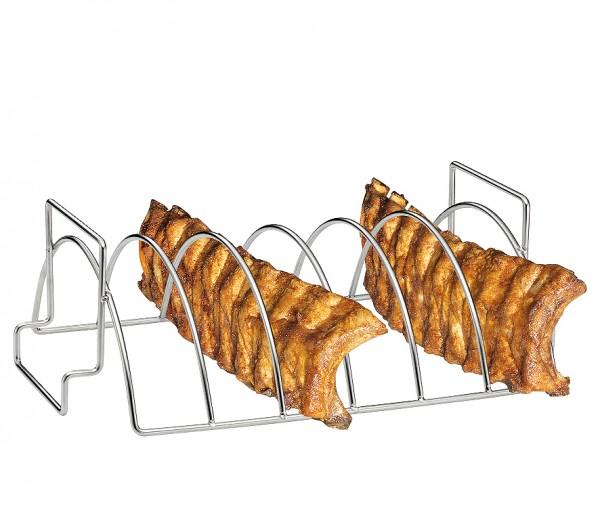 Küchenprofi BBQ Spareribs- und Braten-Rack Edelstahl