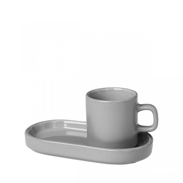 """Blomus 2er Set Espressotassen mit Ablage """"Mio"""" mirage grey"""