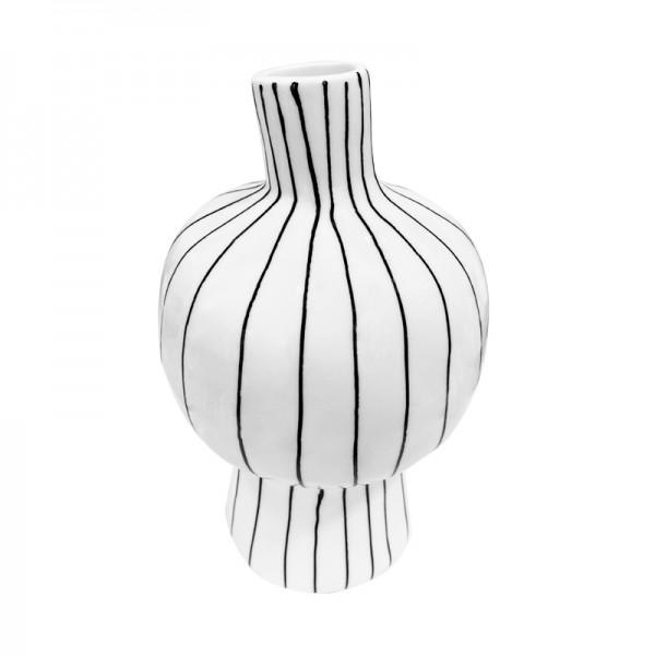 Außergewöhnliche Vase schwarz/weiss