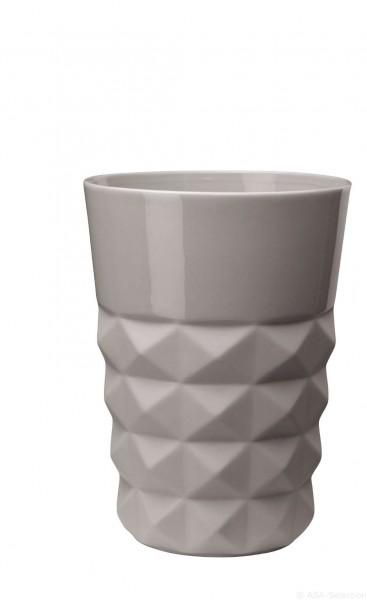 ASA Vase Facette cement 22cm