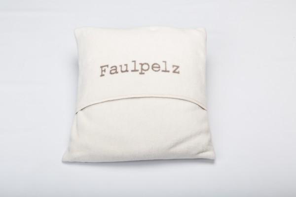 "Fussenegger Verona Kissenhülle ""Faulpelz"" rohweiß"