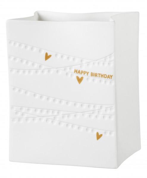 """Räder Porzellanlichttüte """"Happy Birthday"""""""