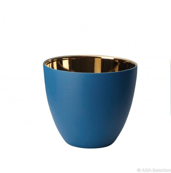 ASA Windlicht blau/gold groß