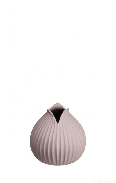 """ASA Vase """"Yoko"""" Rillendekor mauve 10,5cm"""
