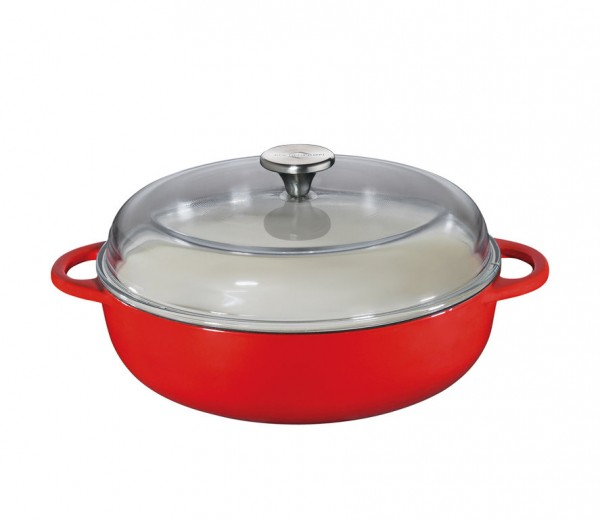 "Küchenprofi Bauernpfanne ""Provence"" rot"
