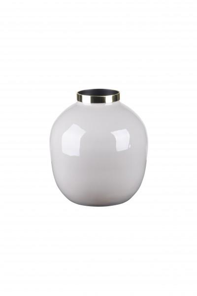 Vase Saigon hellgrau/gold