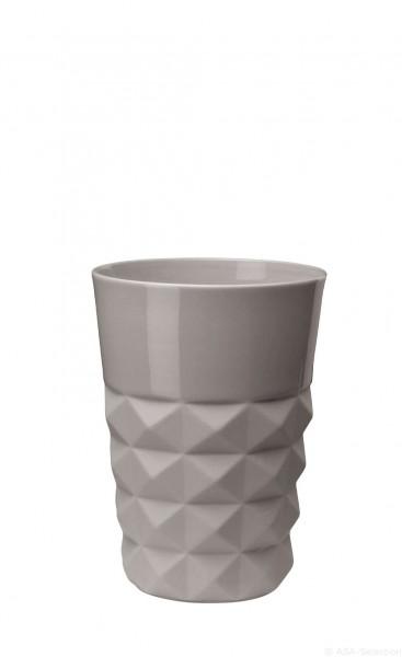 ASA Vase Facette cement 18cm