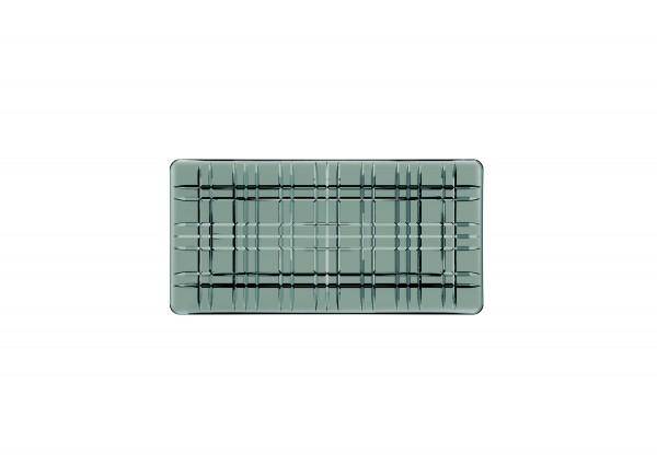 "Nachtmann Platte ""Square"" smoke rechteckig Glas, 28 cm"