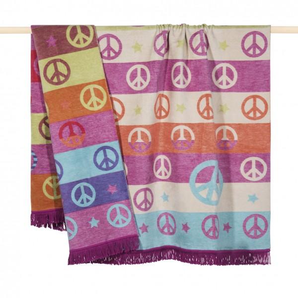 PAD PEACE Decke 150x200, purple