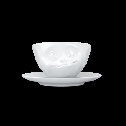 """Fiftyeight Kaffeetasse """"lecker"""""""