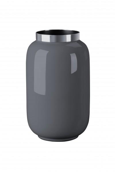 Vase Saigon dunkelgrau/silber S