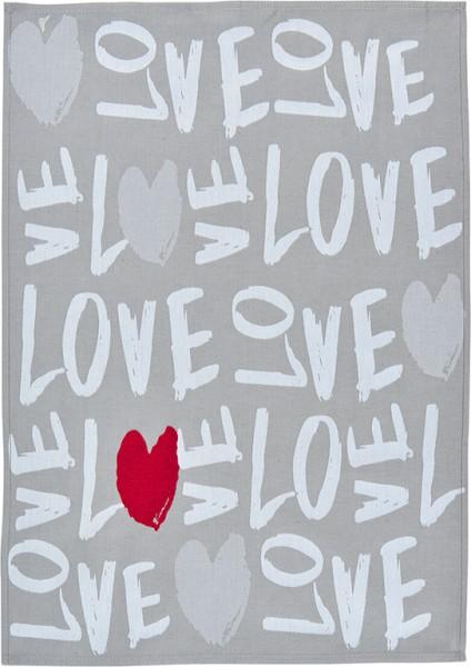 "Sander Geschirrtuch ""Love"" silber"
