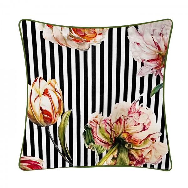 Steen Design Kopfkissen S/W Pfingstblumen