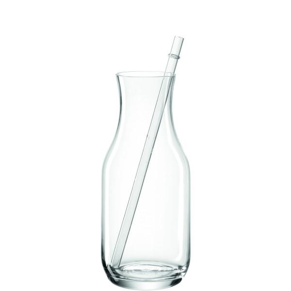 Leonardo Trinkkaraffe BAR ESTATE 700 ml klar mit Glastrinkhalm