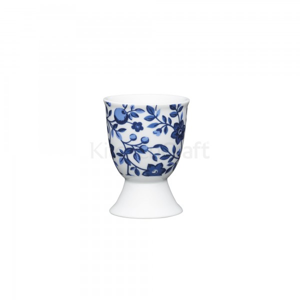 KitchenCraft Eierbecher Blumen blau