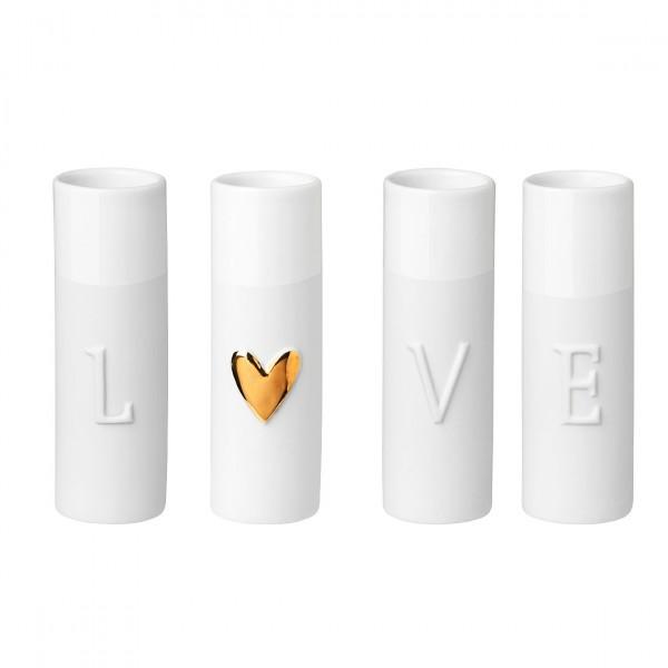 Räder Minivasen LOVE 4er Set