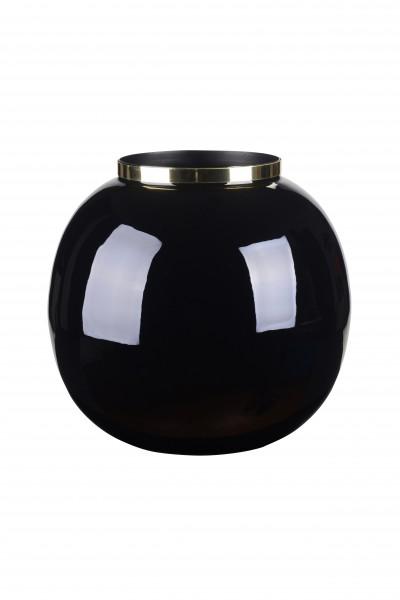 Vase Saigon schwarz/gold
