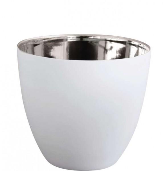 ASA Windlicht weiß/silber klein